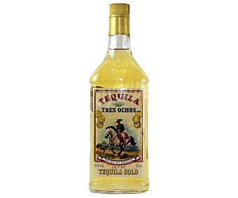 Tres Ochos Tequila Gold Botella de 70 Centilitros