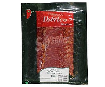Auchan Lomo de cebo ibérico en lonchas 100 gramos