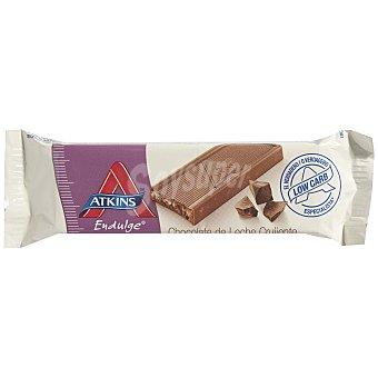 ATKINS ENDULGE Barrita de chocolate con leche crujiente sin azúcar añadido con edulcorante Envase 30 g