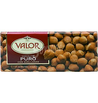 Valor Chocolate puro con avellanas 250 g