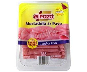 ElPozo Mortadela de pavo, finas lonchas 180 Gramos