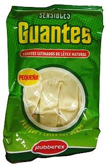 Rubberex Guantes sensible color carne talla pequeña Paquete 2 u