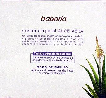 Babaria Crema Corporal Aloe Vera 450 Mililitros