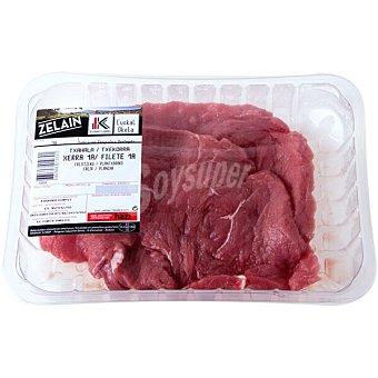 Harakai Label Vasco añojo filetes de 1ª A IGP Carne de Vacuno del País Vasco Euskal Okela peso aproximado Bandeja 600 g