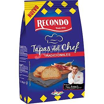 Recondo Tapas del Chef pan tostado tradicional  Bolsa 85 g