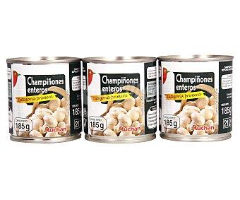 Auchan Champiñones Enteros Pack 3 Unidades de 105 Gramos