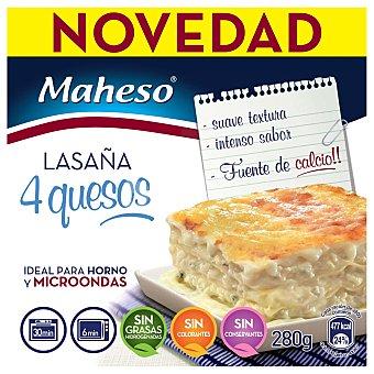 Maheso Lasaña 4 Quesos Tarrina 280 g