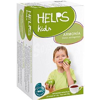 HELPS KIDS Armonía Infusión infantil astringente Estuche 20 bolsitas