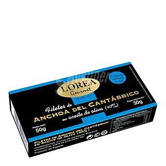 Lorea Anchoa del Cantábrico en aceite de oliva bajas en sal Gourmet 30 g