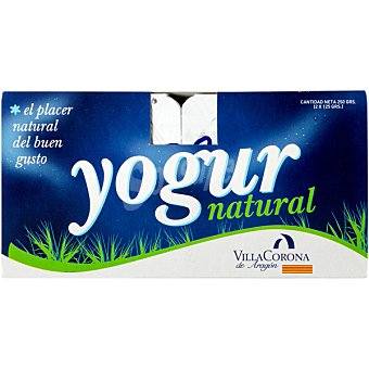 VILLACORONA Yogur natural Pack 2 unidades 125 g