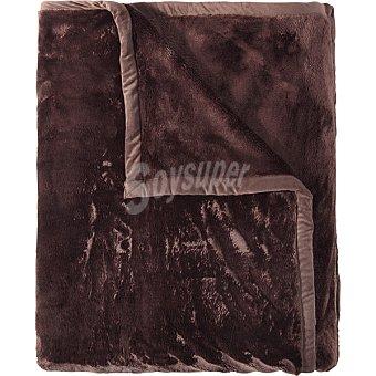 Unit Raschel nuevo manta 170 x 250 cm color chocolate