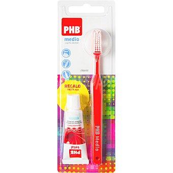 Phb Classic cepillo dental medio 1 unidad + regalo pasta dental 15ml 1 unidad