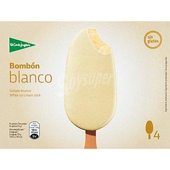 El Corte Inglés Bombón helado de chocolate blanco sin gluten 4 unidades estuche 440 ml estuche 440 ml