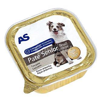 AS Alimento para perros senior con carne tarrina 150 gr