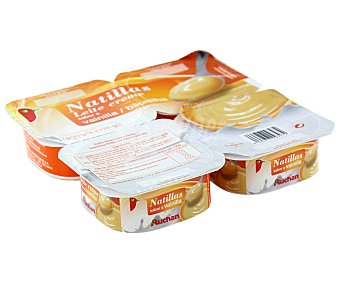 Auchan Natillas de vainilla Pack de 4 unidades de 125 gramos