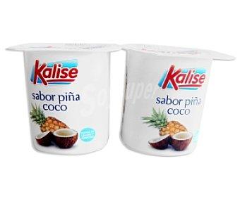Kalise Yogur sabor piña/coco 4 Unidades de 125 Gramos