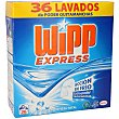 Detergente máquina polvo Maleta 36 cacitos Wipp Express