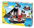 Playset barco pirata con 2 figuras y accesorios, 48,5 x 19 x 35 cm., ECOIFFIER.  Ecoiffier