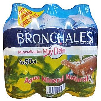 Bronchales AGUA MINERAL NATURAL PACK 6 x 500 cc - 3000 cc