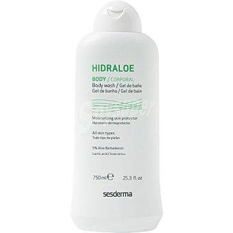 Sesderma Hidraloe gel de baño para pieles sensibles o secas para toda la familia frasco 750 ml Frasco 750 ml