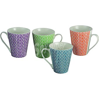 CASACTUAL New Bone Mug Decorado en color naranja 33 cl