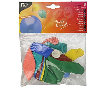 Papstar Globos grandes de colores, 32 centímetros, papstar Pack de 8