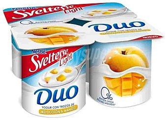 Sveltesse Nestlé Yogur con trozos de melocotón y mango light Pack de 4x125 g