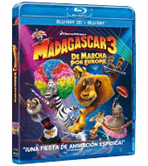 Madagascar 3 (dvd+ BR+ BR ) 3D