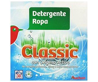 Auchan Detergente en polvo para lavadora con oxígeno activo 30 lavados