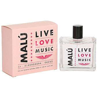 Malu Colonia de mujer con vaporizador Live love music  100 ml