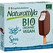 Bio Organic Vegan mini bombones de helado de soja sabor chocolate y nata ecológicos y sin gluten Estuche 3 unidades Naturattiva