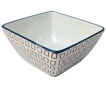 Bidasoa Bol cuadrado para aperitivos con diseño de figuras geométricas, 9,5cm., bidasoa