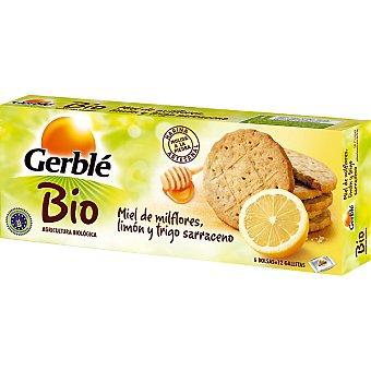 Gerblé Galletas con miel de mil flores limón y trigo sarraceno 6 bolsas de 12 unidades BIO Envase 132 g