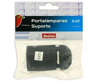 Auchan Portalámparas E27 negro 1 Unidad