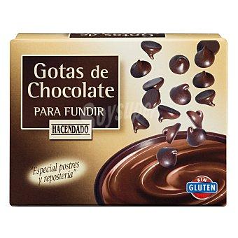 Hacendado Gotas de chocolate para fundir Caja 250 g