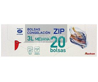 Auchan Bolsa Congelación Mediana Cierre Zip 20 Unidades