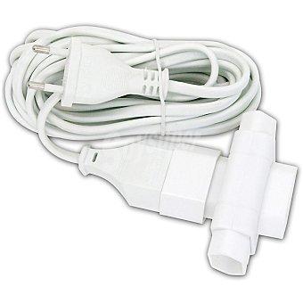 Hipercor Cable prolongador base móvil, con adaptador triple de 4,8 m