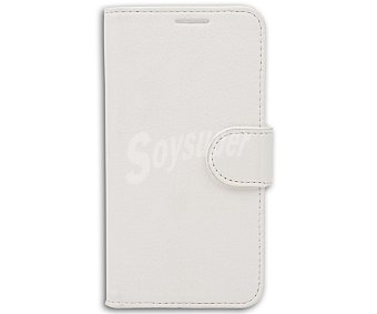 Auchan Funda con tapa para Samsung Galaxy S5 Mini Folio, Blanco