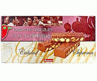 Auchan Turrón de chocolate con almendras 300 gramos