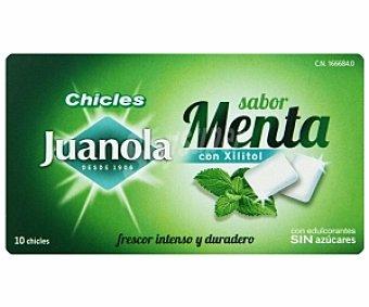 JUANOLA Chicles sabor menta con xilitol 10 Unidades