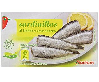 Auchan Sardinillas en Aceite de Girasol al Limón 65 Gramos
