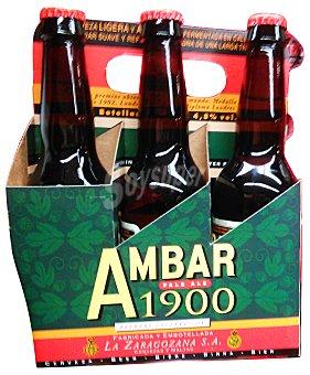 Ambar Cerveza rubia ambar 1900 Botellin pack 6 x 330 cc - 1980 cc