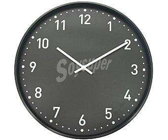 Auchan Reloj de aluminio de 40 centímetros de diámetro y 4,9 centímetros de grosor, modelo Actuel 1 unidad
