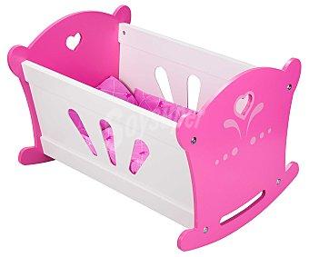 Rik&Rok Auchan Cuna de madera, accesorio para muñecos bebé de hasta 42 centímetros 1 unidad