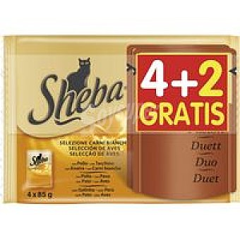 SHEBA Pack duet ave Mousse 6 unidades