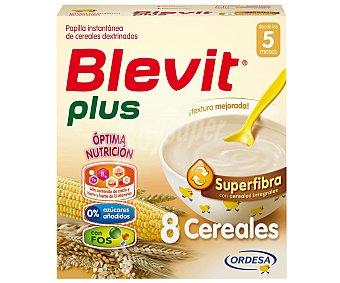 Blevit Plus Superfibra papilla instantánea de 8 cereales desde los 5 meses Caja 600 g