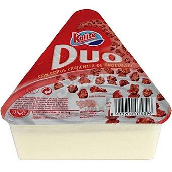 Kalise dúo yogur natural con copos de maíz y chocolate Tarrina 175 g