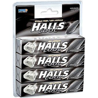 Halls Caramelos extra fuertes sin azúcar Pack 4 envases 32 g