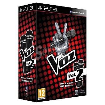 PS3 Videojuego La Voz; Vol. 2 PS3 + Micrófonos 1 Unidad