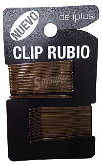 Deliplus Gancho cabello clip rubios Paquete 24 u